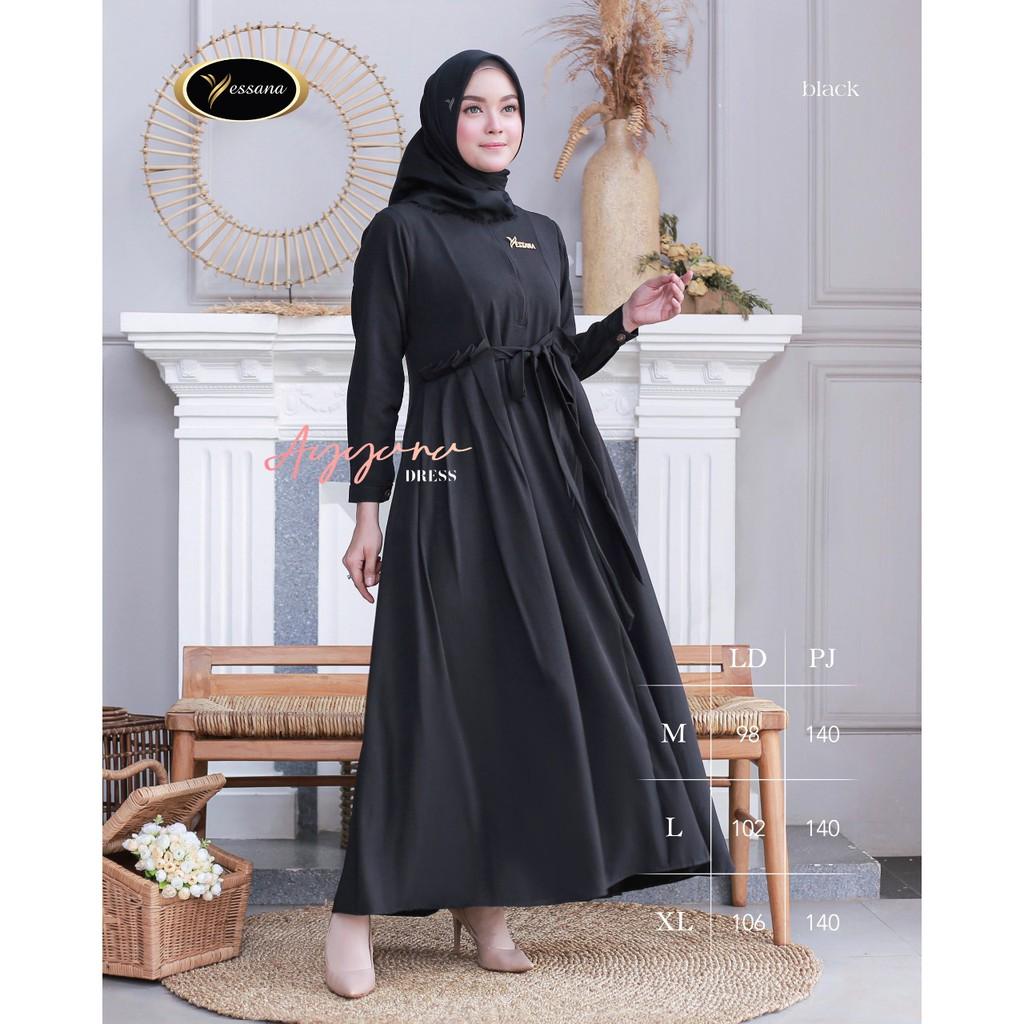 DRESS CANTIK / DRESS MUSLIM / CASUAL DRESS  / AYYANA DRESS BY YESSANA