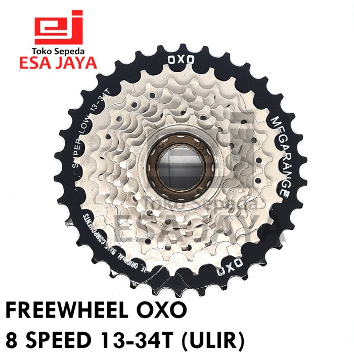 Terlaris Freewheel 8 Speed OXO 13-34 T Ulir Drat Megarange bukan Shimano Diskon