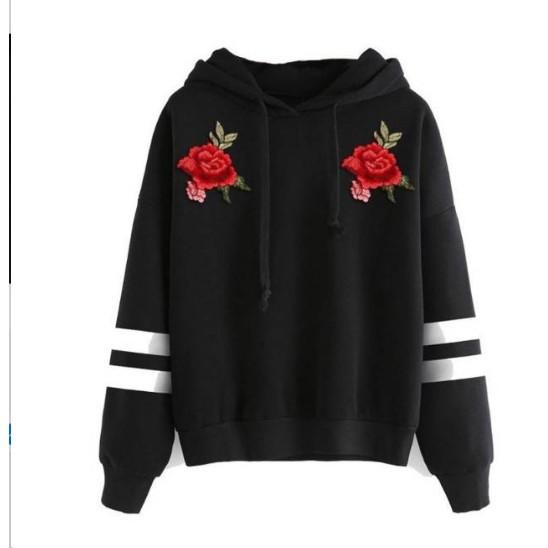 Erlinafashion Sweater Outerwear Wanita Hoodie Crop Brooklyn 53 ... a5993efca9
