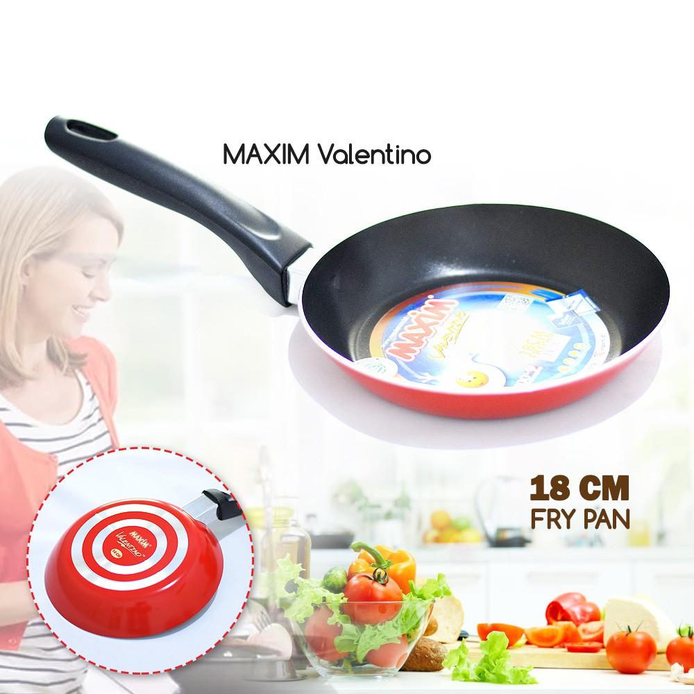 Ultimate Teflon Maxim Valentino Frypan 26-cm / Wajan Teflon Penggorengan FP-041 RED | Shopee Indonesia