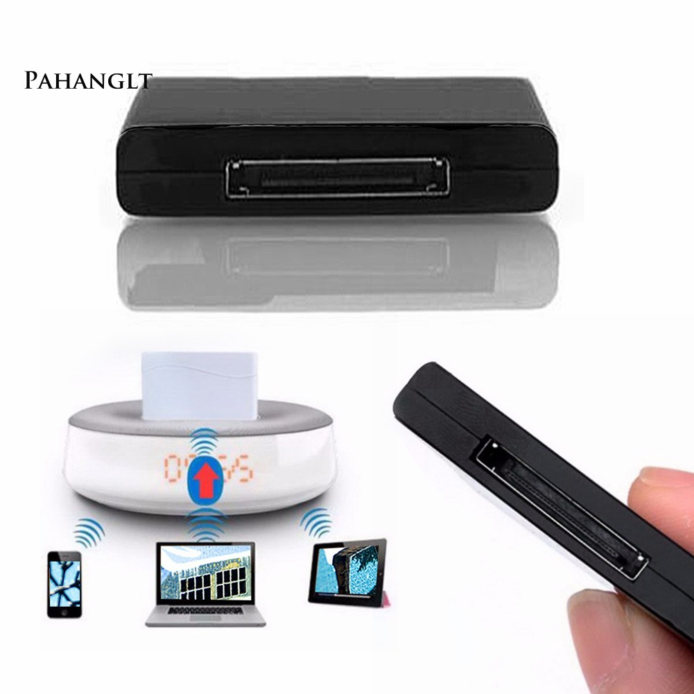 BTWireless 30 Pin A2DP Music Receiver Adapter For iPhone Dock Black
