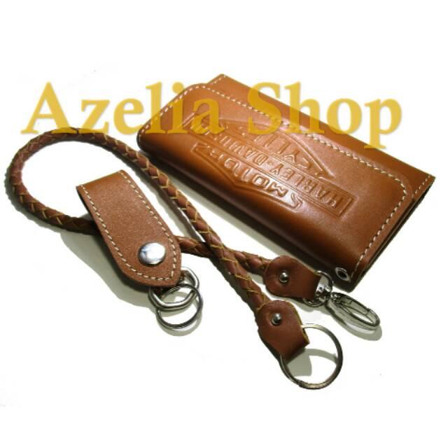 Dompet kulit pria harley davidson asli sapi panjang kartu lipat pull up  premium murah casual garut  56a55c805f