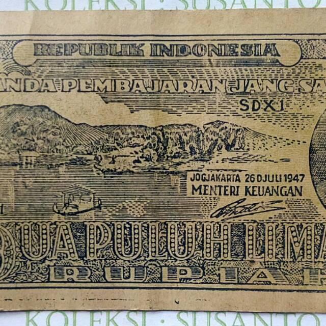 25 rupiah ORI III th 1947.