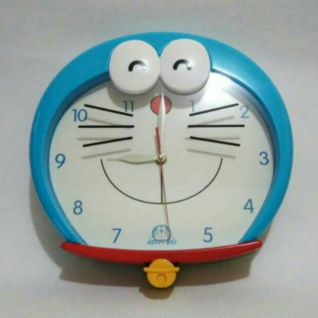 Jam weker alarm clock mini karakter Doraemon Hello kitty  46ba416eea