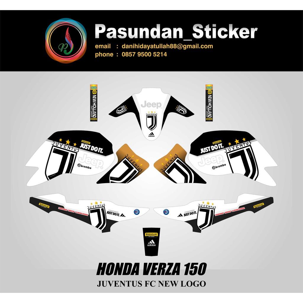 Decal Sticker Honda Verza 150 Juventus Fc New Logo Shopee Indonesia
