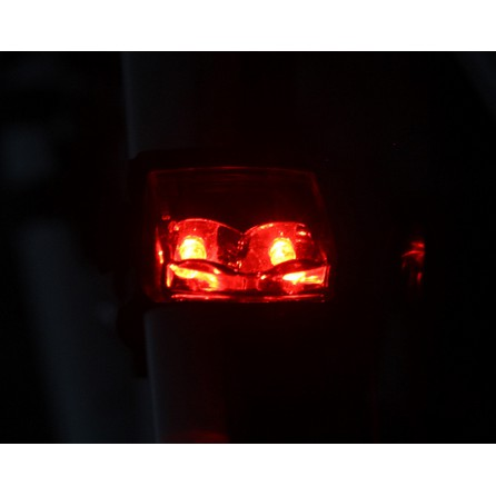 No Battery Needed Self Powered Bike Bicycle Red Rear Light LED Tail Safety Lamp