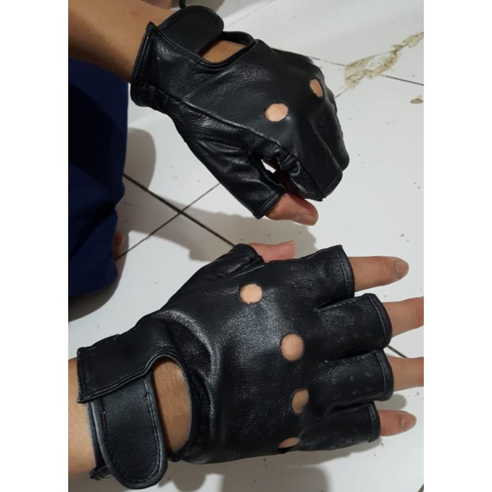 Sarung Tangan Motor Kulit Asli Gloves Sepeda Kiper Pria Wanita Cowok Bahan Untuk Cewe Atau Cowo Cewek Murah Nyaman Dipakainya