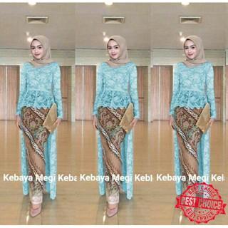 Long Kebaya Wisuda Modern Azalea Muslim Rok Batik