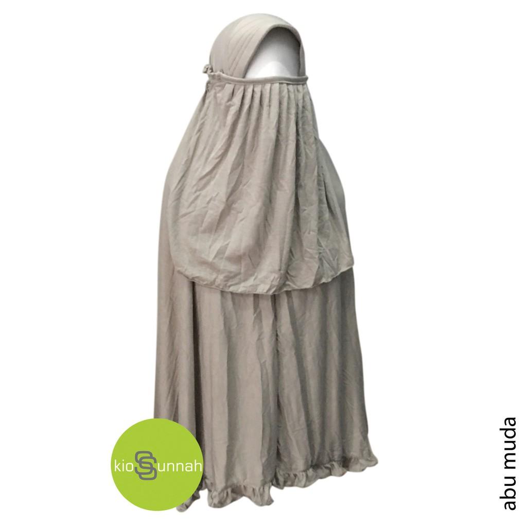 125rb Dapat 3pc Jilbab Serut Cadar Kaos Jumbo Syari Shopee Indonesia