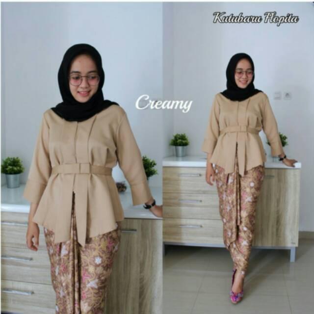 Kebaya Modern Pengantin Akad Nikah Kondangan Muslim Kekinian Hits Trend  Fashion Terbaru Cantik Murah  ba9746fb48
