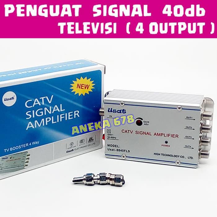 EELIC CSA-1020EK4 MIX PENGUAT SINYAL 20dB CATV BROADBAND 1 INPUT 4 OUTPUT 2Watt+KAA-15M KABEL ANTENA | Shopee Indonesia