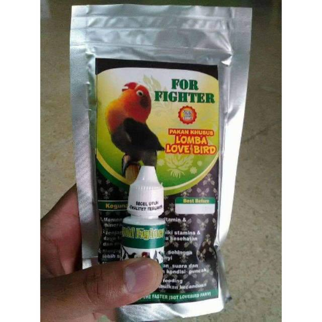Paket Pakan For Fighter Lovebird 200g 1 Liquid Fighter Untuk Lomba Sigit The Faster Shopee Indonesia