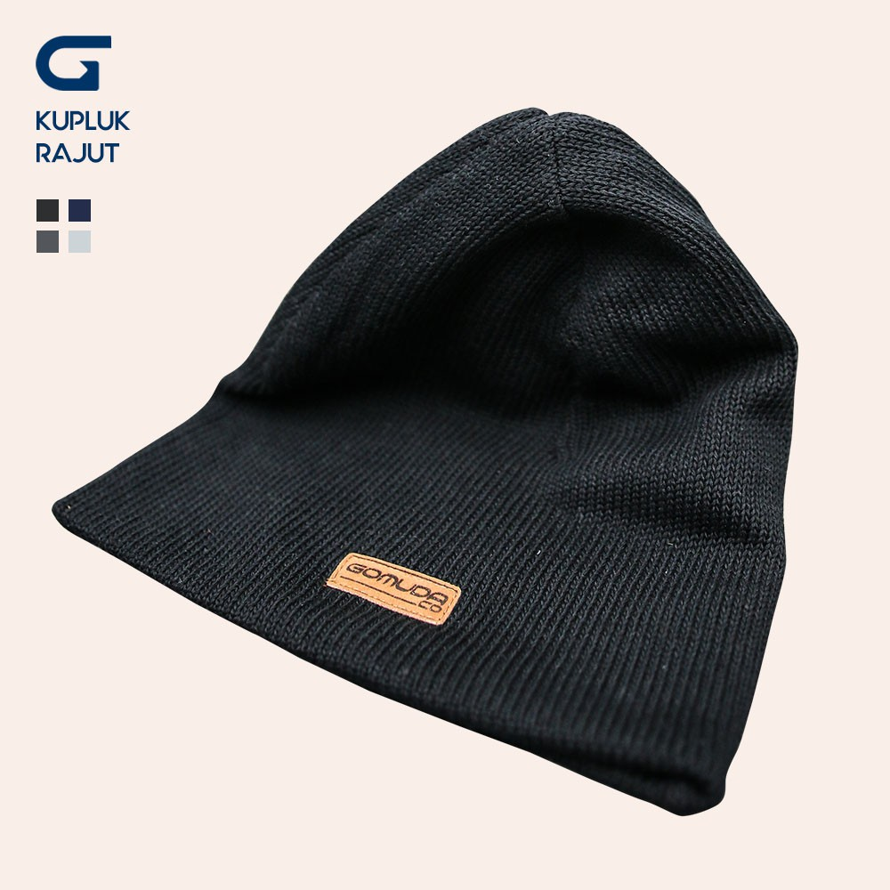 Topi Kupluk Rajut Casual Bahan Wol Hangat untuk Musim Dingin ... bb3493b13b