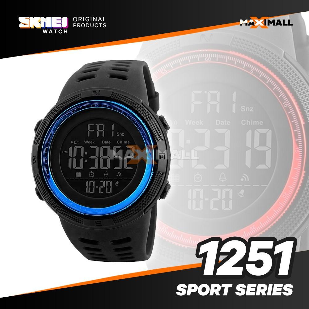 Jam Tangan Pria Skmei 1081 Sport Led Watch Dengan Desain Mewah Digital Analog Keren Ad1040 Cowok Shopee Indonesia