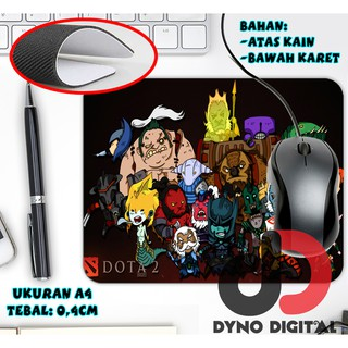 Mouse pad dota 2 chibi heroes MousePad Tatakan Mouse Custom Gaming