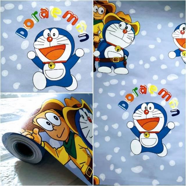 Grosir Murah Wallpaper Kamar Anak Doraemon Koboy Lucu Shopee Indonesia