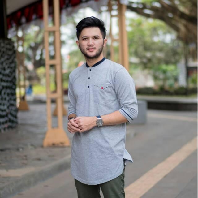 KOKO KURTA BAHAN KAOS AZIZUL KDL | Shopee Indonesia