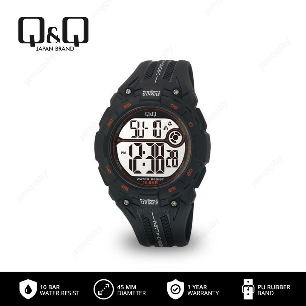 Q Q Qnq Qq Original Jam Tangan Pria Digital M121 M121j Water Resist 10 Bar Shopee Indonesia