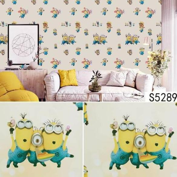 Hq Wallpaper Dinding Minions Minion Shopee Indonesia