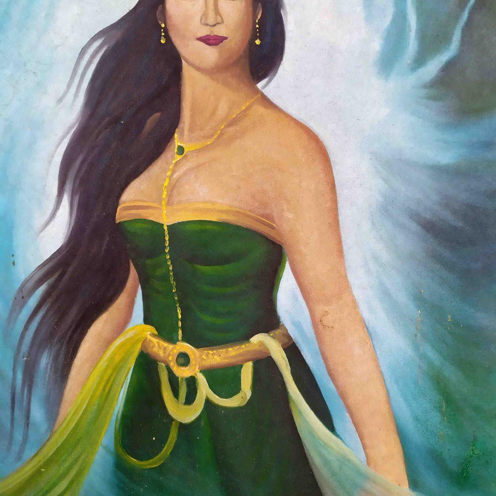 Lukisan Kuas Sketsa Gambar Kanjeng Nyi Roro Kidul Shopee Indonesia