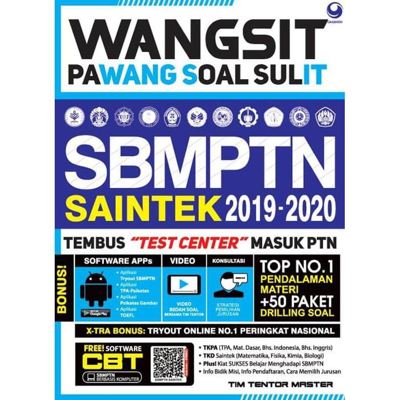 Wangsit Pawang Soal Sulit Sbmptn Saintek 2019 2021 Shopee Indonesia