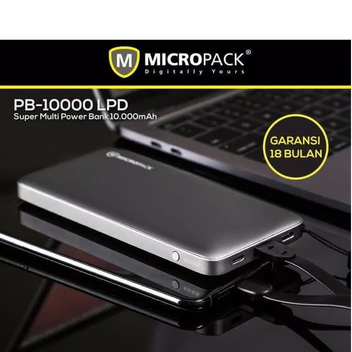 Micropack Power Bank 10000mah Power Delivery 18w PB-10000.LPD