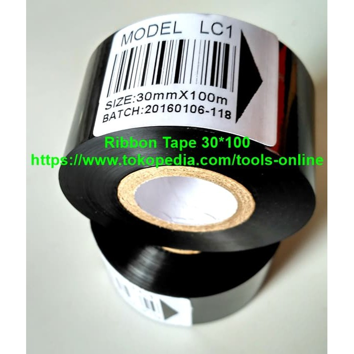 Ribbon Tape 25 X 100 Lc1 Tinta Foil Pita Mesin Coding Expire Date   Shopee Indonesia