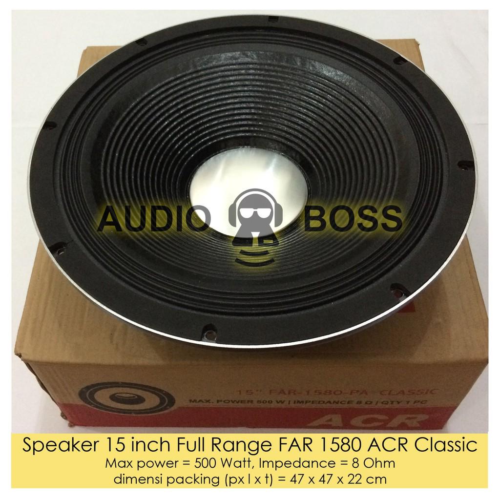 Speaker 15 Inch Acr Classic Far 1580 Pa 500 Watt Original 12 1240 Klasik Clasic Asli Harga Sepasang Atau 2 Pcs Shopee Indonesia