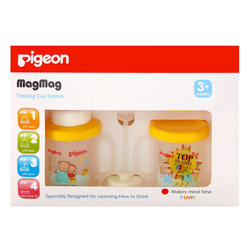 Magmag Step 1 Nursing Cup Pigeon Shopee Indonesia Silicone Pacifier 2 Isi
