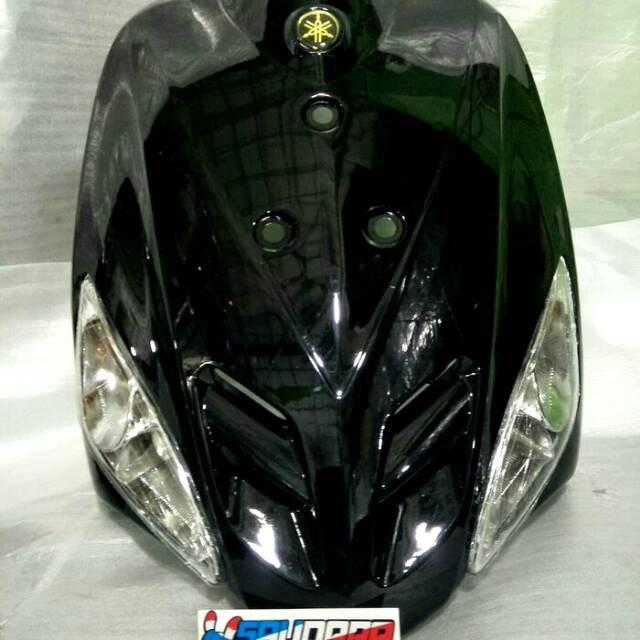Tameng Body Depan&Sen MX Mio Sporty 3 Holes ready hitam putih silver