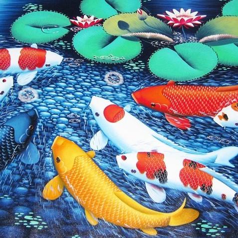Lukisan Ikan Koi 9 Nuansa Modern Shopee Indonesia