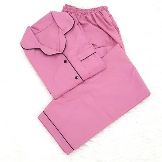 Jenis Baju Piyama Polos