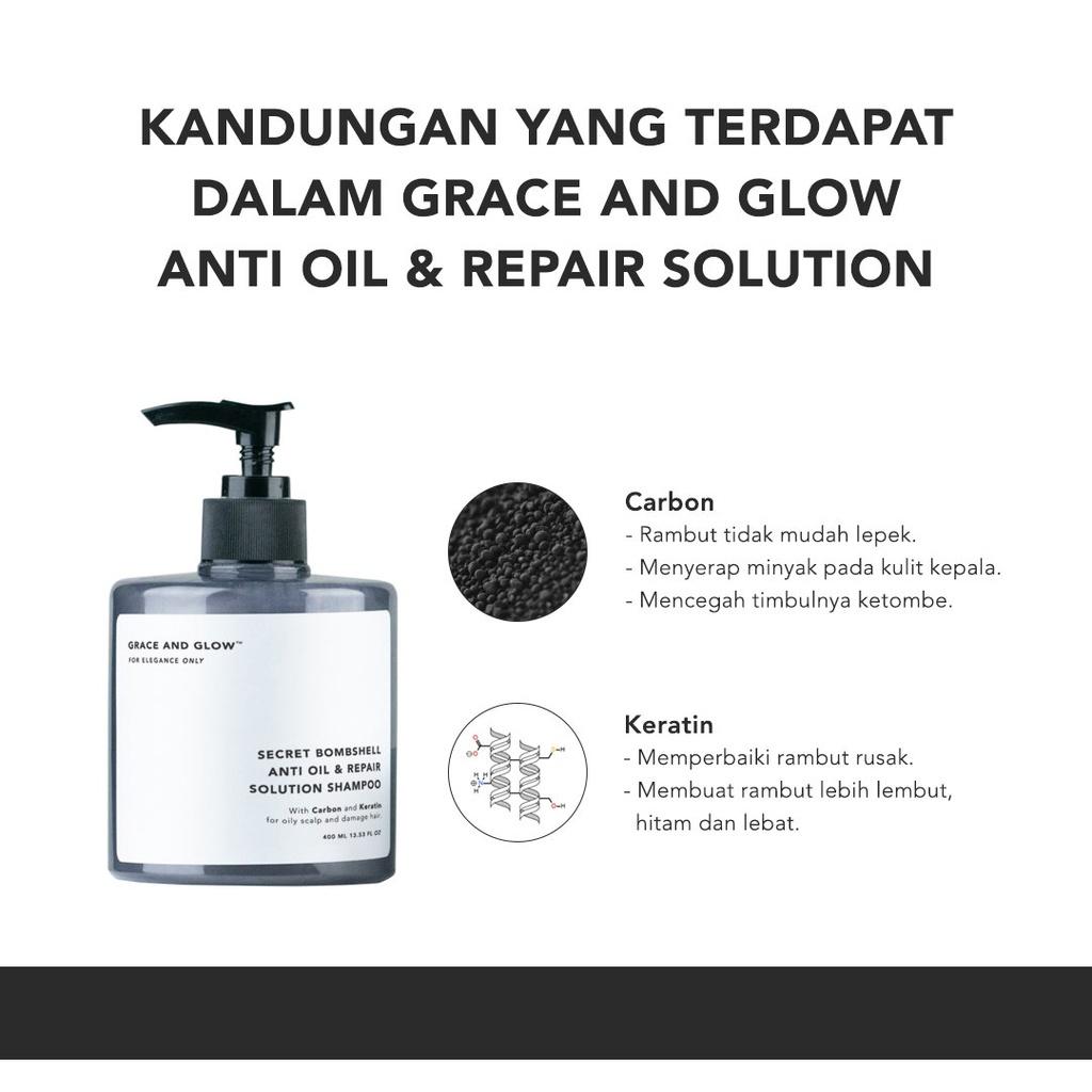 Grace & Glow Secret Bombshell Anti Oil and Repair Solution Shampoo-3