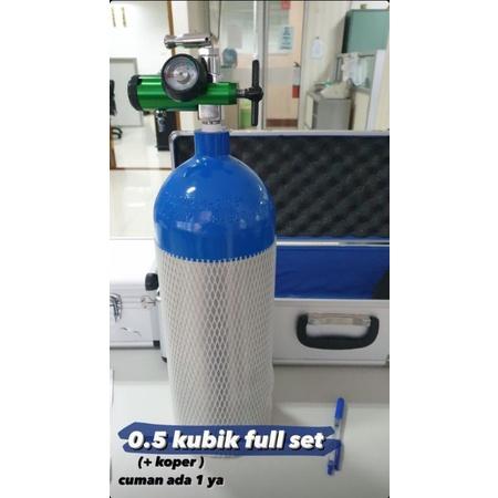 Tabung Oksigen 0.5 m3 kubik 1 set cocok untuk di rumah murah bandung