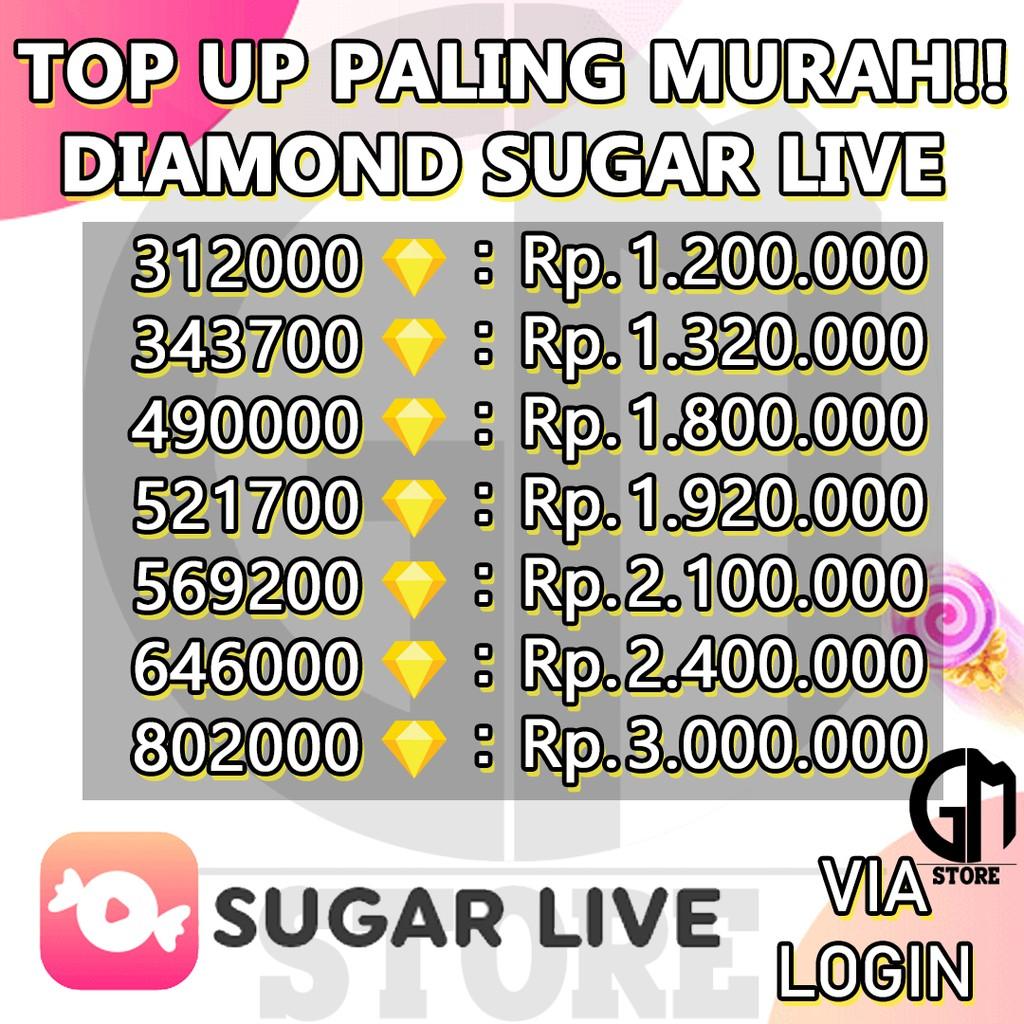 TOP UP SUGAR LIVE 312000 - 802000 DIAMOND TOPUP SUGARLIVE PALING MURAH (3)