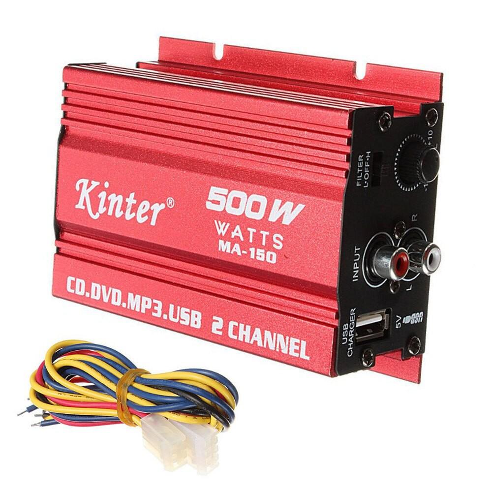 500W MA-150 DC9-14V 2-CH Mini Hi-Fi Stereo Audio Amplifier Subwoofer Car Motor