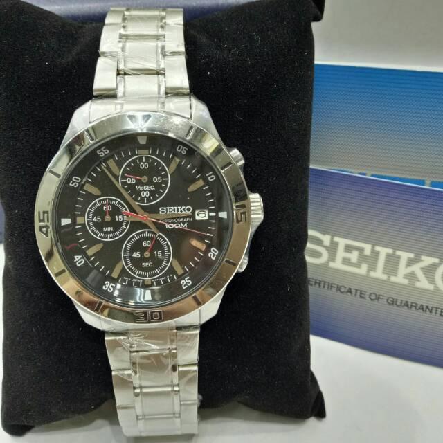Jam tangan seiko 474906 jam tangan pria seiko chronograph original ... b85b69143a