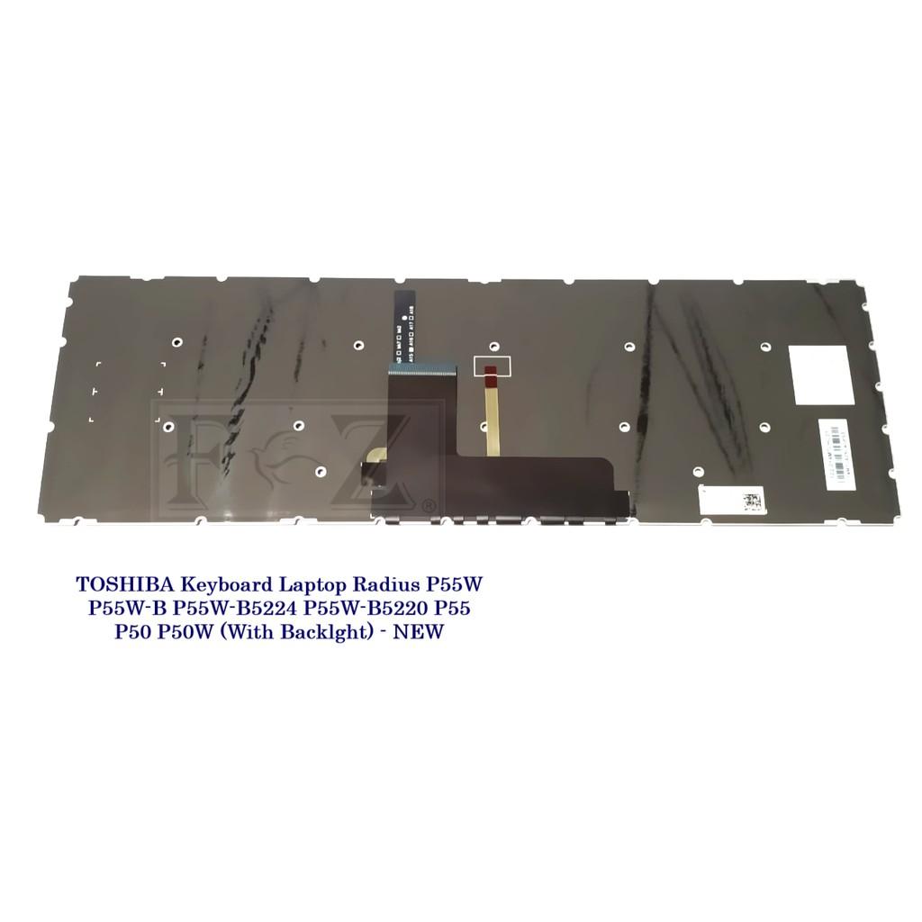 Original New for Toshiba Radius P55W-B5112 P55W-B5318D US Black Backlit Keyboard