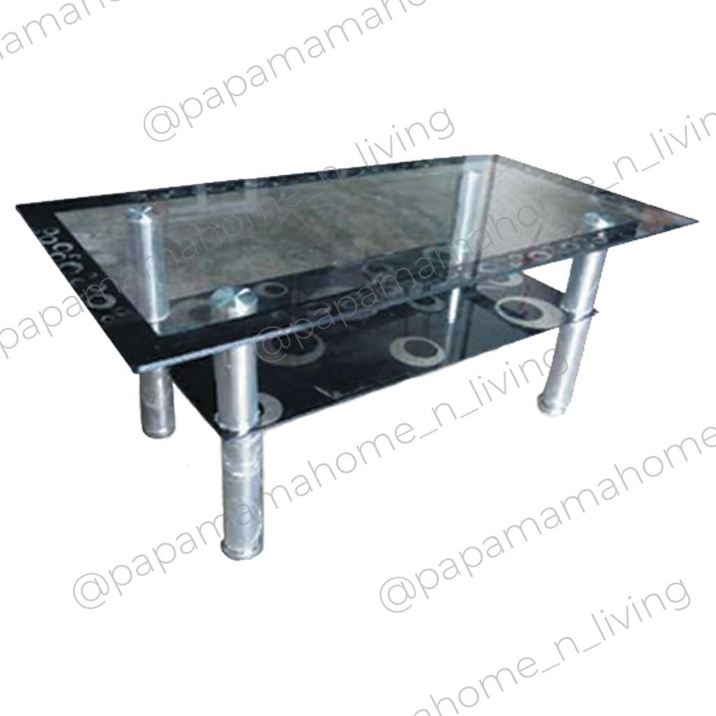 Meja Tamu Kaca Import 105cm Coffe Table W 1 Medan Shopee Indonesia Harga meja kaca ruang tamu
