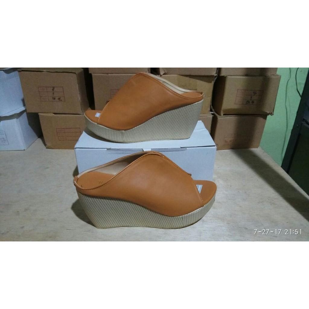 Dapatkan Harga Wedges Lacey Diskon Shopee Indonesia Sandal Mr91 Cream