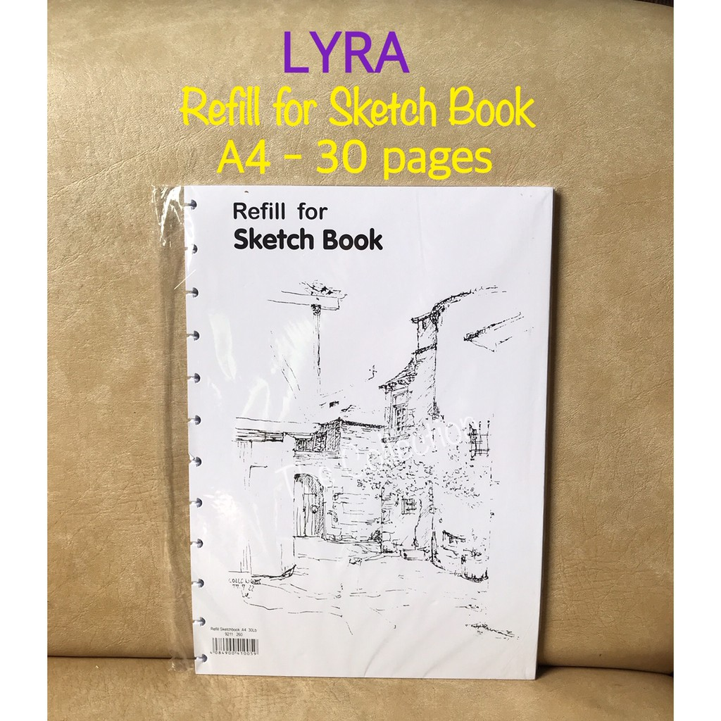 Refill A4 Sketch Book LYRA Isi Ulang Buku Sketsa ATK0668LR