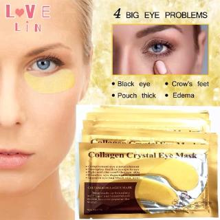 Lovelin 1PCS Gold collagen crystal eye mask to dilute fine lines and moisturize 3