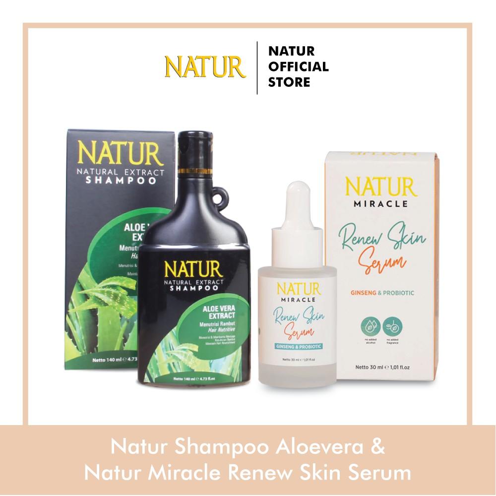 Natur Miracle Renew Skin Face Serum : Ginseng Probiotic Natur Shampoo