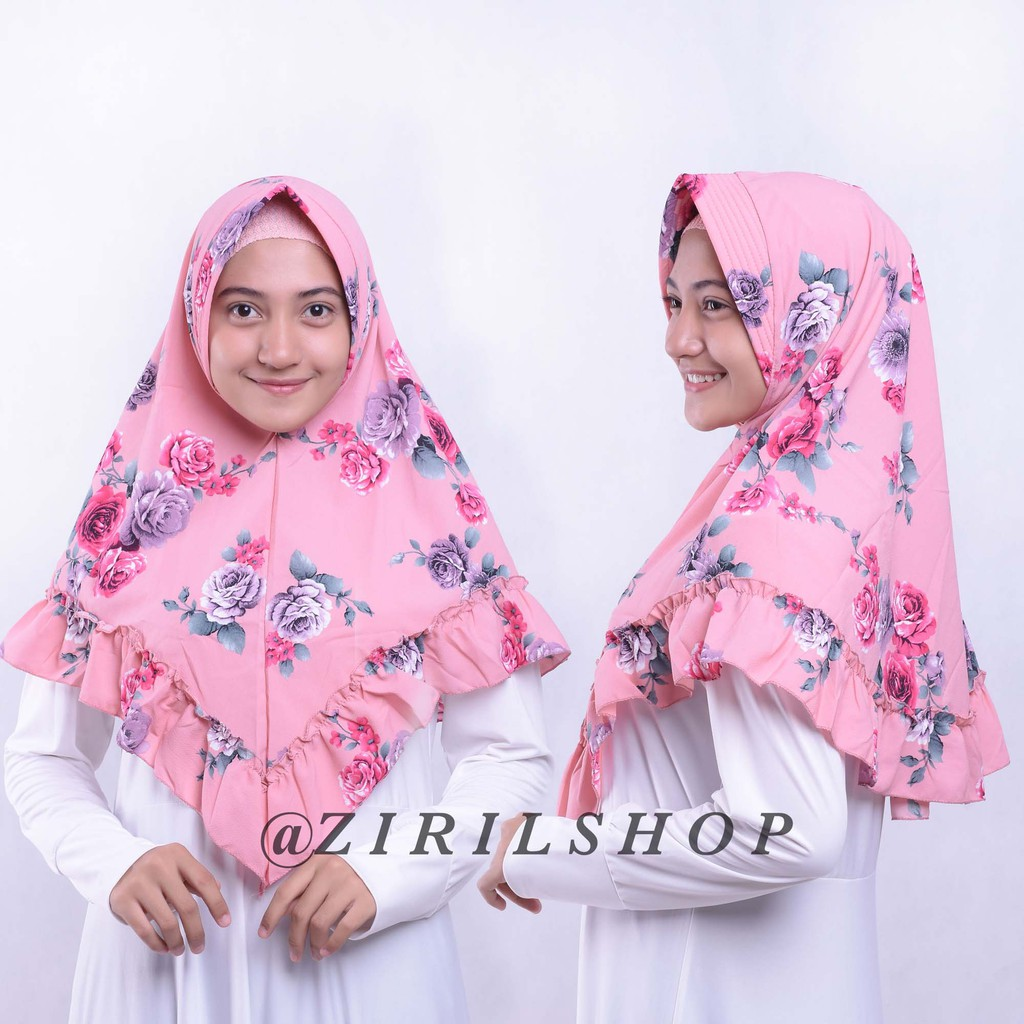 Bergo Kaos Tanpa Serut Ori Elrahma Jilbab Non Jumbo Hijab Syari Sekolah Dan Dewasa Shopee Indonesia