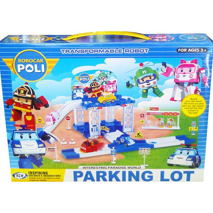 Robocar Poli Parking Lot Zy-610 - Kado Anak Murah Promo !!!  