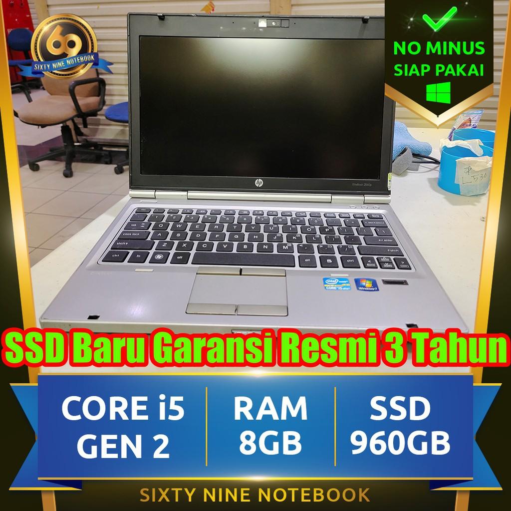 Hp Elitebook 2560p Core i5 + Baterai Baru | Laptop Notebook Second
