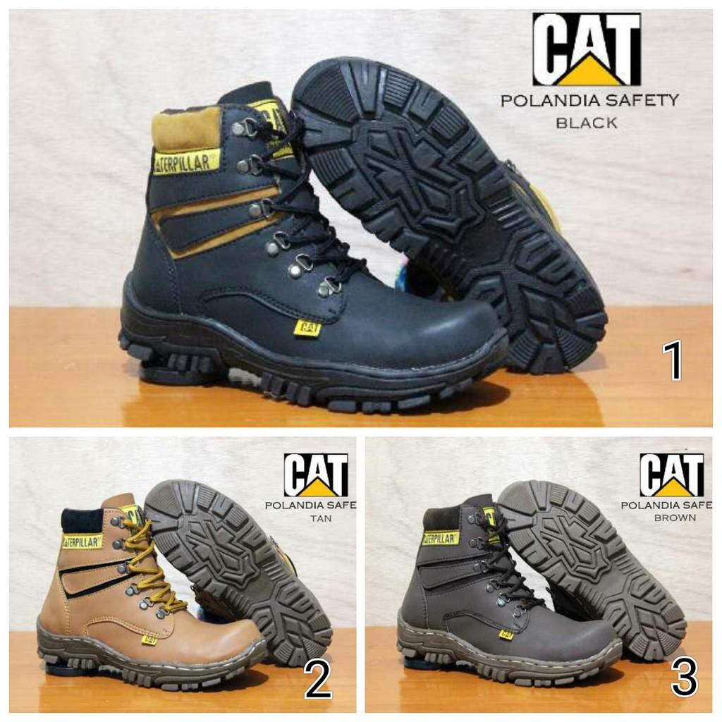 Sepatu Pria Boots Crocodile Armor Safety Booots Original Handmade Morrisey Proyek Ujung Besi Gunung Hitam Shopee Indonesia