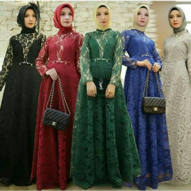Dress Set Khimar By Laatazarna Shopee Indonesia