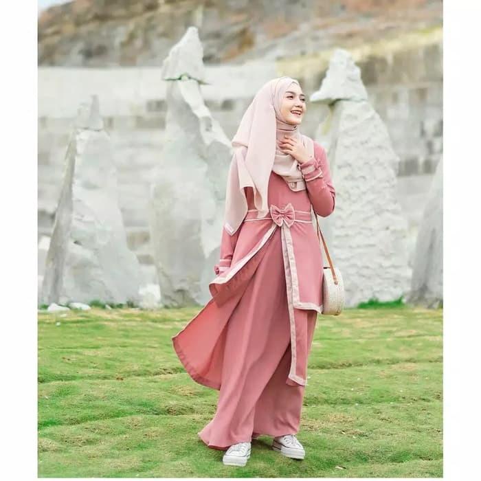 Baju Syar I Gamis Olivia Murah Baju Muslim Wanita Pesta Dress Busui Shopee Indonesia