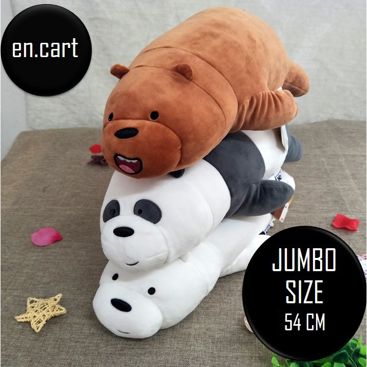 Boneka We Bare Bears 100% Original (GRIZZ cce4ccfc0a